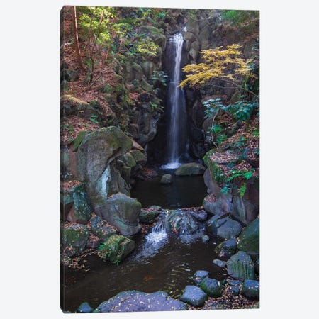 Waterfall in the gardens of the Narita Temple Canvas Print #HDD18} by Sheila Haddad Canvas Art
