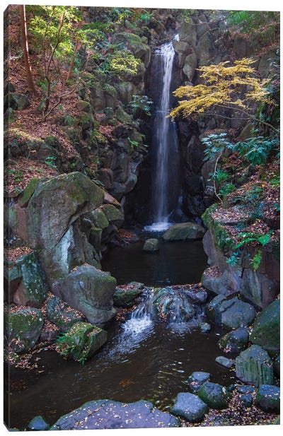Waterfall in the gardens of the Narita Temple Canvas Art Print
