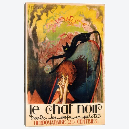 Le Chat Noir Hebdomadaire, 1922 Canvas Print #HDE1} by Henri Desbarbieux Canvas Art Print