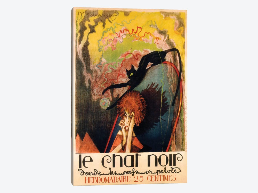 Le Chat Noir Hebdomadaire, 1922 by Henri Desbarbieux 1-piece Canvas Art Print