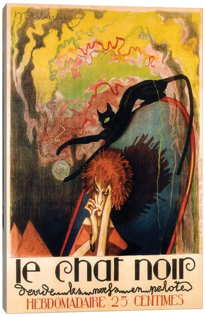 Le Chat Noir Hebdomadaire, 1922 Canvas Art Print