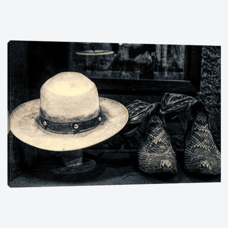 Stetson & Boots - New York Canvas Print #HDG15} by Stephen Hodgetts Canvas Wall Art