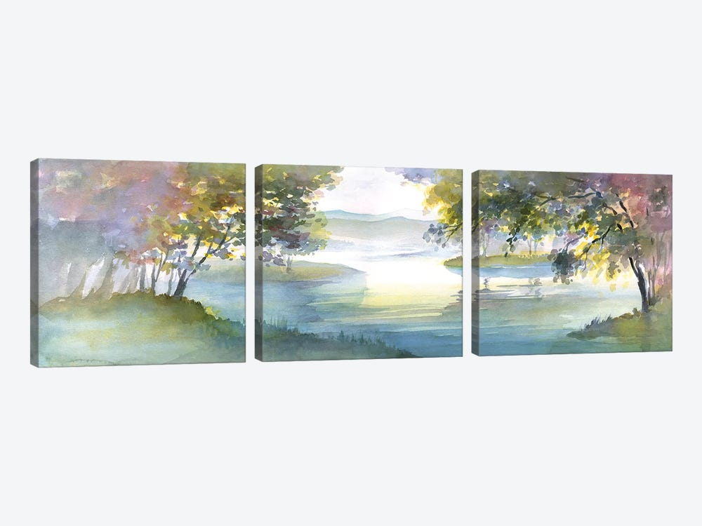 Meandering Lake I by Theresa Heidel 3-piece Canvas Art