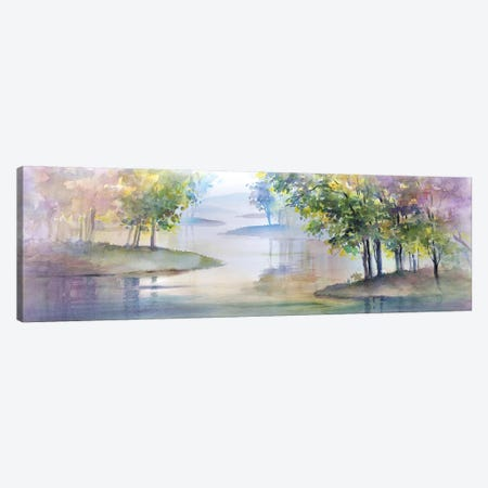 Meandering Lake II Canvas Print #HDL12} by Theresa Heidel Canvas Wall Art