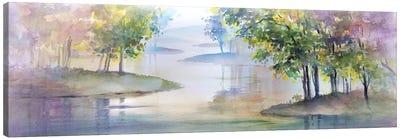 Meandering Lake II Canvas Art Print
