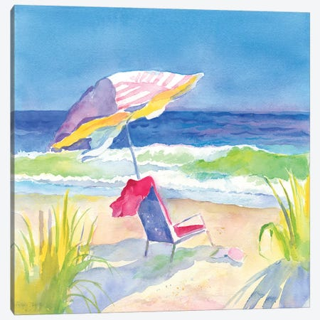 Beach Bliss I Canvas Print #HDL13} by Theresa Heidel Canvas Art