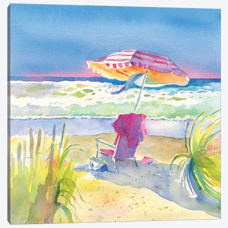 Beach Bliss II Canvas Print #HDL14} by Theresa Heidel Art Print