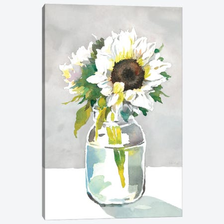 Sunflower I Canvas Print #HDL17} by Theresa Heidel Canvas Print
