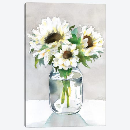 Sunflower II Canvas Print #HDL18} by Theresa Heidel Canvas Wall Art