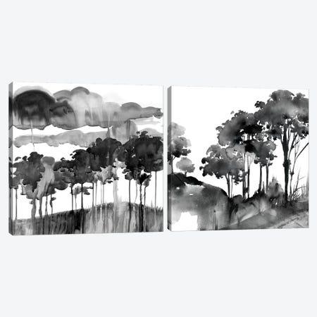 Cerulean Sky Diptych Canvas Print Set #HDL2HSET001} by Theresa Heidel Canvas Art