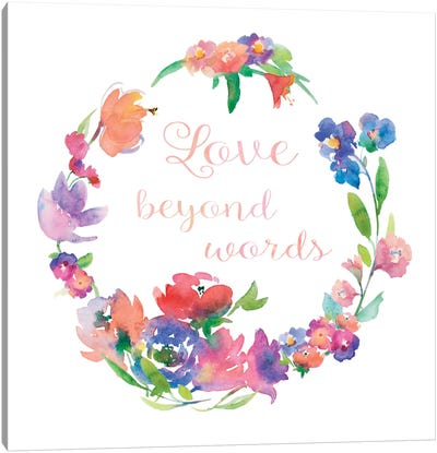 Love Beyond Words Canvas Art Print