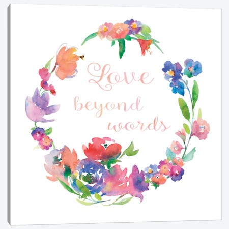 Love Beyond Words Canvas Print #HDL3} by Theresa Heidel Canvas Art