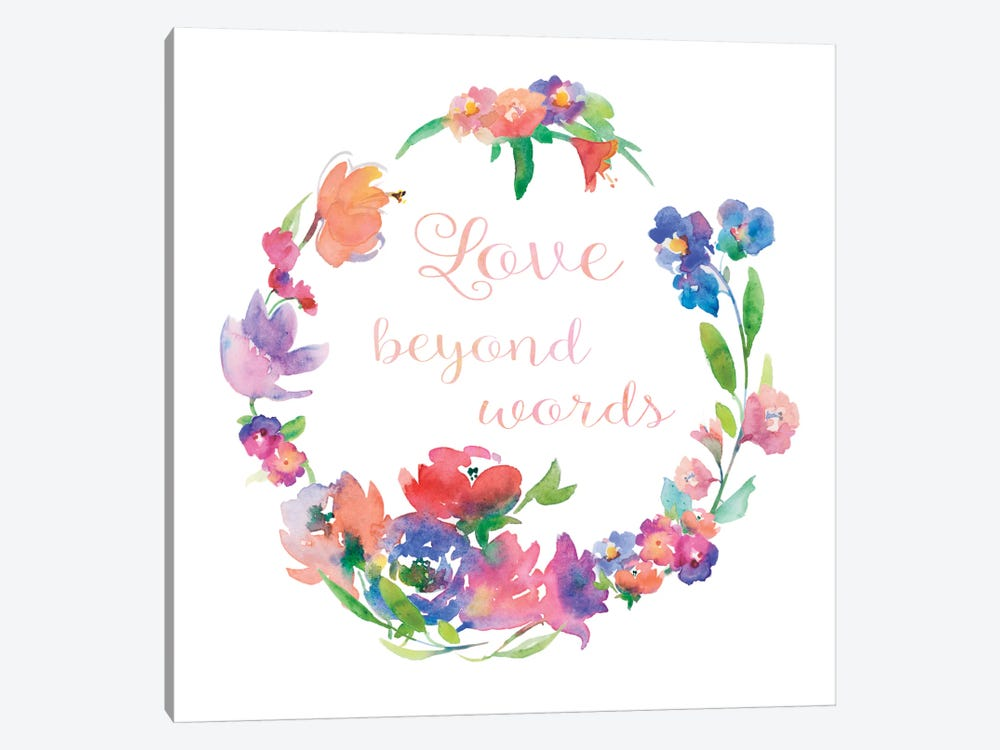 Love Beyond Words by Theresa Heidel 1-piece Canvas Art