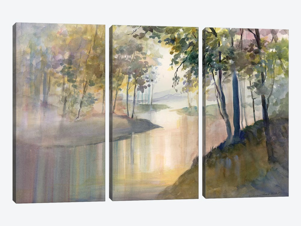 Reflections & Memories by Theresa Heidel 3-piece Canvas Artwork