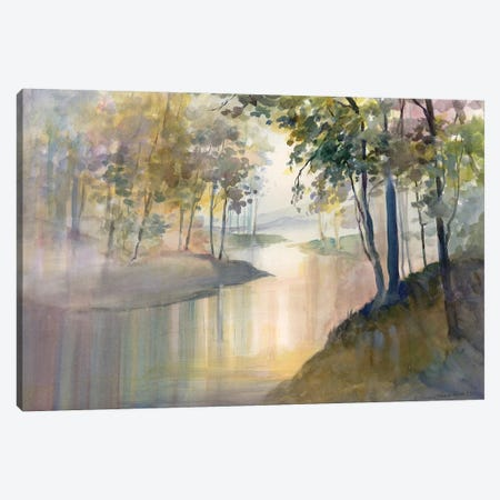 Reflections & Memories 3-Piece Canvas #HDL7} by Theresa Heidel Canvas Print