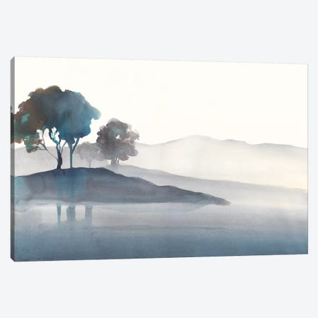 Serene Silhouette I 3-Piece Canvas #HDL9} by Theresa Heidel Canvas Wall Art