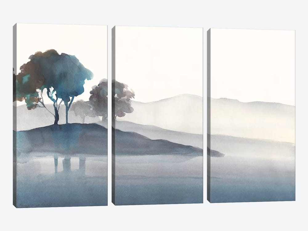 Serene Silhouette I by Theresa Heidel 3-piece Canvas Wall Art