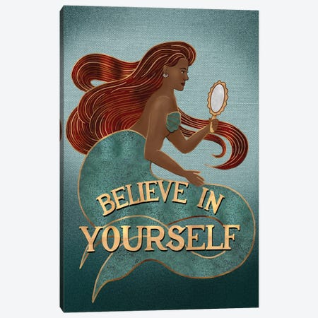 Believe In Yourself I Canvas Print #HDN14} by Holly Dunn Canvas Print