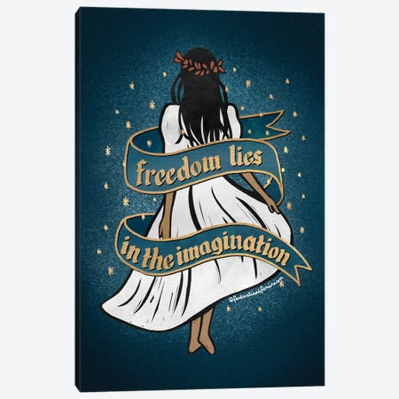 Freedom Lies In The Imagination Canvas Print #HDN26} by Holly Dunn Canvas Wall Art