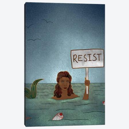 Resist Mermaid I Canvas Print #HDN48} by Holly Dunn Canvas Print