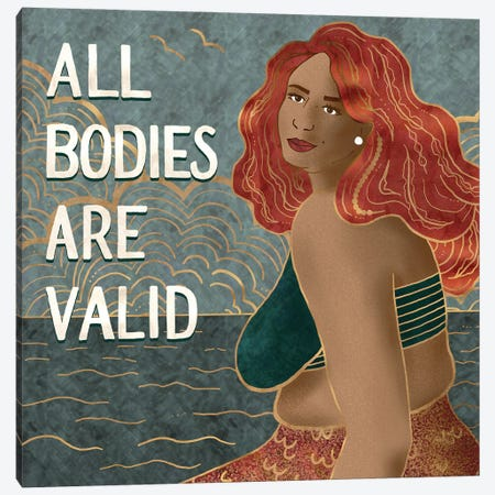 All Bodies Are Valid II Canvas Print #HDN4} by Holly Dunn Canvas Art Print