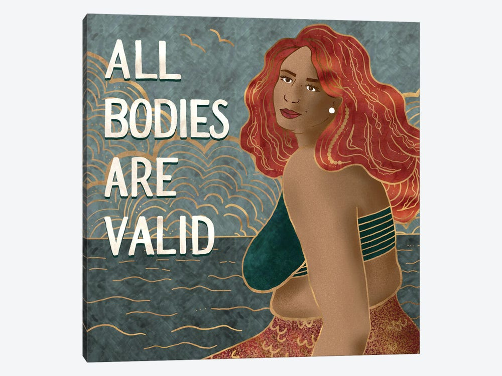 All Bodies Are Valid II by Holly Dunn 1-piece Canvas Art Print