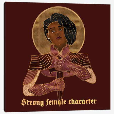 Strong Female Character Canvas Print #HDN62} by Holly Dunn Canvas Print