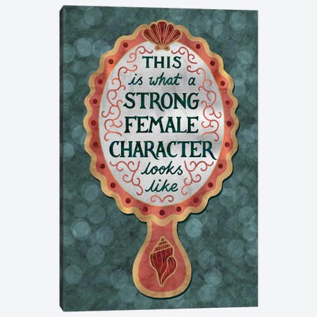 Strong Female Character Mirror Canvas Print #HDN64} by Holly Dunn Canvas Art