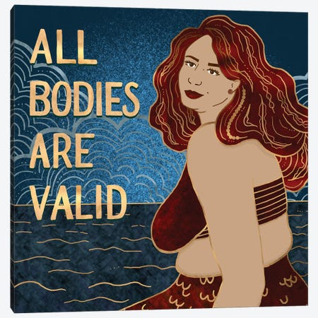 All Bodies Are Valid IV Canvas Print #HDN6} by Holly Dunn Art Print