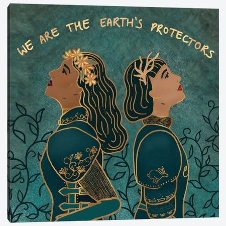 Earth's Protectors Canvas Print #HDN70} by Holly Dunn Canvas Artwork