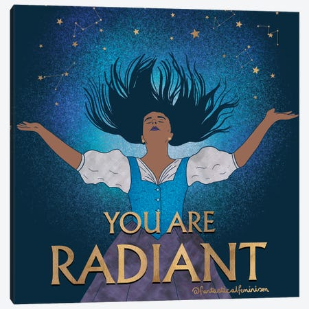 You Are Radiant Canvas Print #HDN90} by Holly Dunn Canvas Artwork