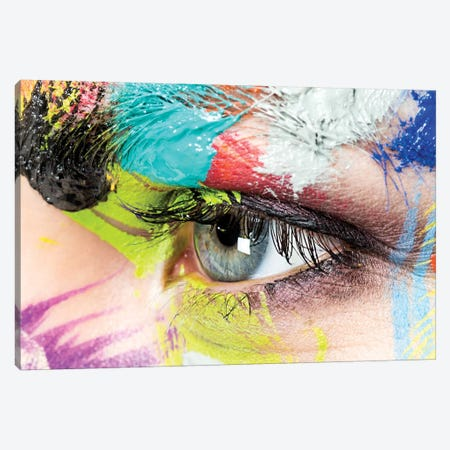 Roberta's Left Eye Canvas Print #HDU6} by Herve Dunoyer Canvas Print