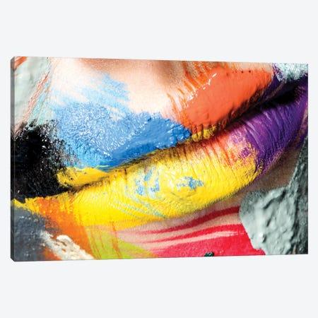 Roberta's Lips Canvas Print #HDU7} by Herve Dunoyer Art Print