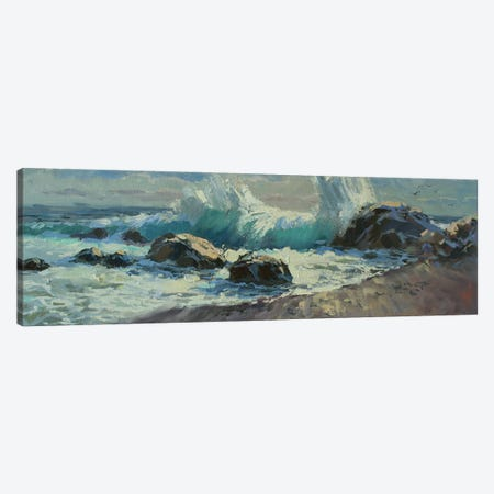 Breaking Waves Canvas Print #HDV11} by CountessArt Canvas Art