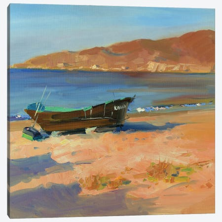 Fishing Boat Canvas Print #HDV28} by CountessArt Canvas Art Print