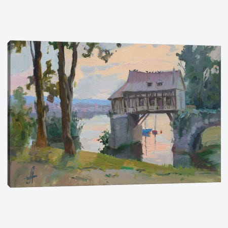 Old Mill Vernon France Canvas Print #HDV45} by CountessArt Canvas Wall Art