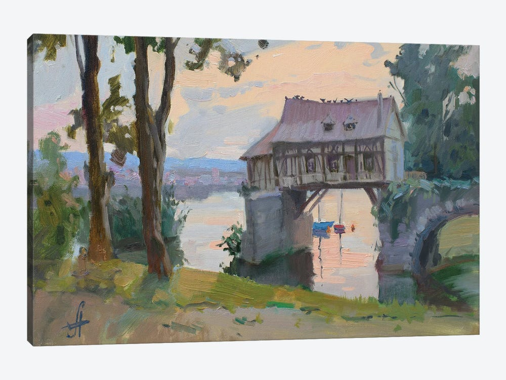 Old Mill Vernon France by CountessArt 1-piece Canvas Art