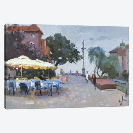 Warsaw Evening In The Old Town Canvas Print #HDV77} by CountessArt Art Print