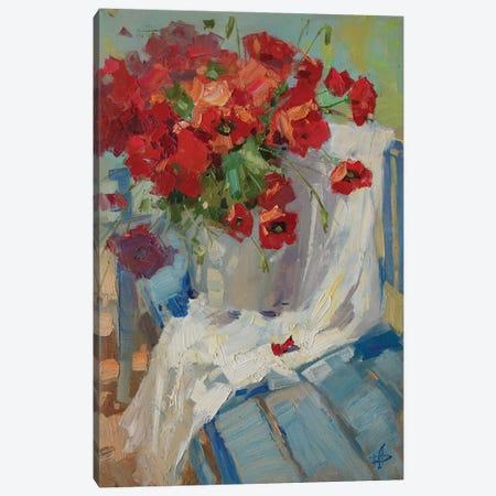 Blue Bench Canvas Print #HDV8} by CountessArt Canvas Art Print