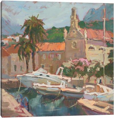 Boats Montenegro Canvas Art Print