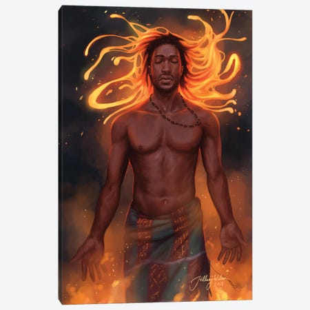 Magma Canvas Print #HDW15} by Hillary D Wilson Canvas Artwork