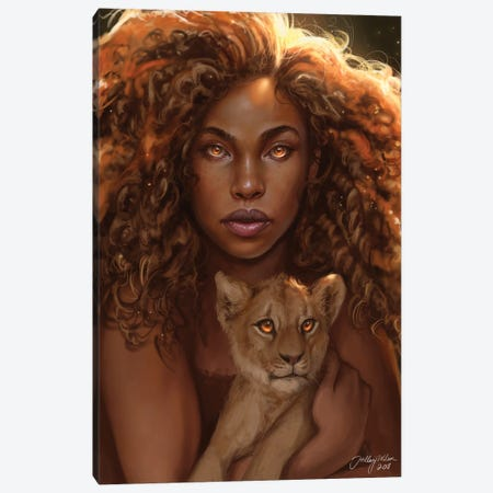 Lioness Canvas Print #HDW16} by Hillary D Wilson Canvas Art