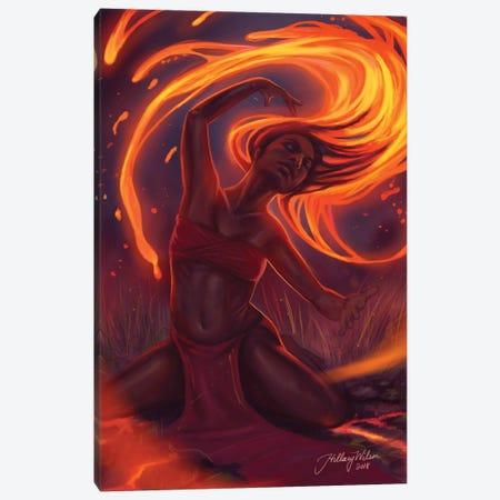 Fire Dance Canvas Print #HDW21} by Hillary D Wilson Canvas Art