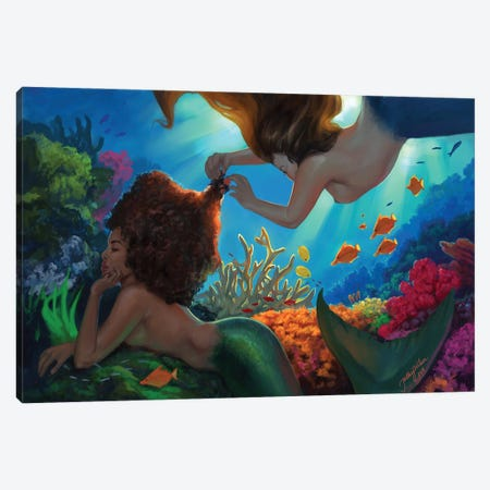 Mermaids Canvas Print #HDW26} by Hillary D Wilson Canvas Print