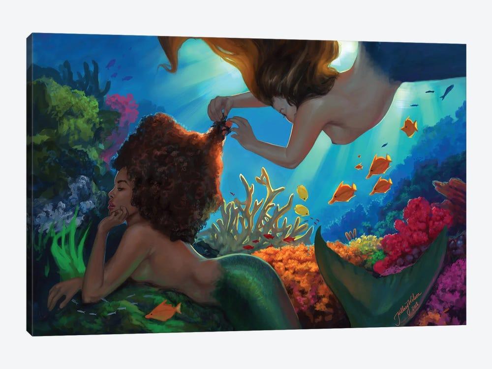 Mermaids by Hillary D Wilson 1-piece Canvas Art