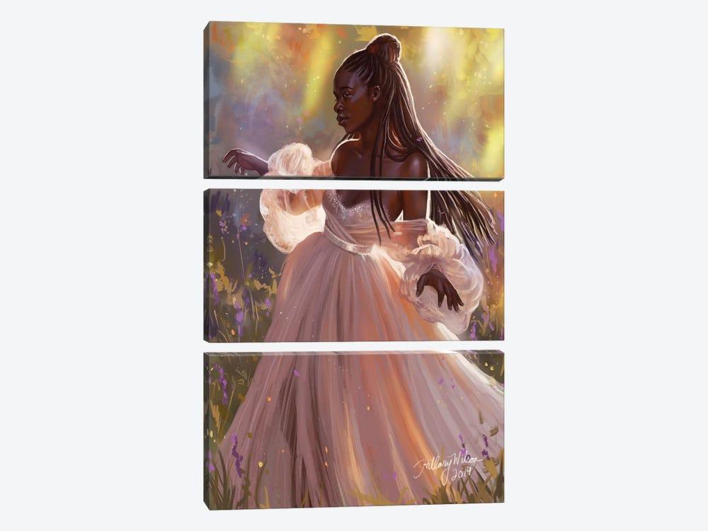 Princess by Hillary D Wilson 3-piece Canvas Art
