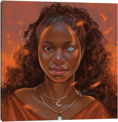 Calling The Flames Canvas Art Print