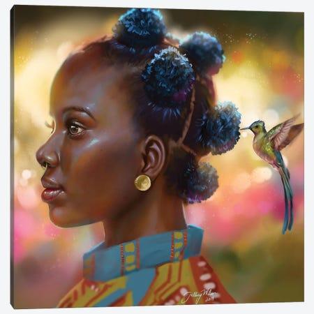 Hummingbird Canvas Print #HDW6} by Hillary D Wilson Canvas Art Print