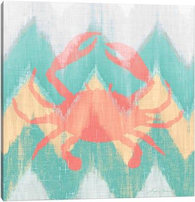 Sea Creature on Chevron III Canvas Art Print