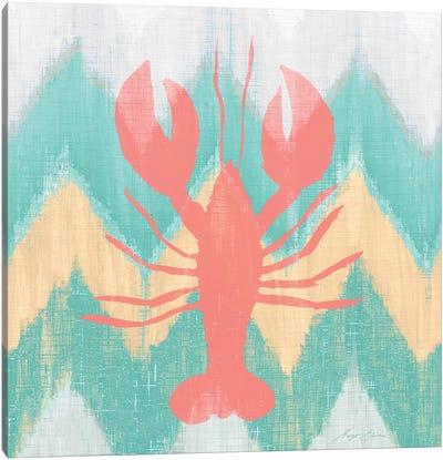 Sea Creature on Chevron IV Canvas Art Print